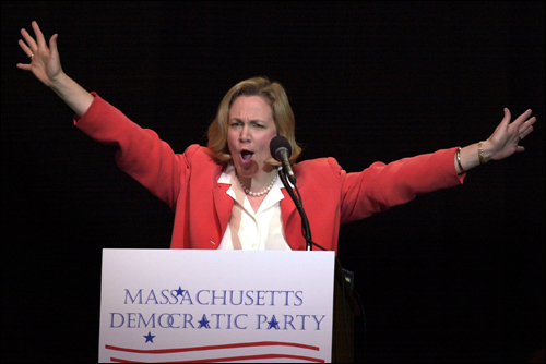 Then-state Treasurer Shannon O'Brien won the Democratic nomination in 2002 by staking out centrist positions on most issues in a tough race against three other credible opponents. In the runup to the November election against Mitt Romney, however, she embraced gay marriage a year before the state's high court made it legal and a lower age for parental consent to have an abortion.