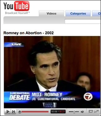 During his 2002 campaign against Democrat Shannon O'Brien, Romney made clear that he supported abortion rights, saying in this debate, 'I will preserve and protect a woman's right to choose.' But during the stem cell debate, he says, he had an epiphany and realized that his support for abortion rights had been wrong.