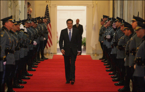 On Jan. 3, Romney took his final walk out of the State House, leaving Beacon Hill for a quiet evening at home with his wife. But the closure of this chapter led to the opening of another: Just an hour earlier, Romney had filed papers with the Federal Election Commission establishing the Romney for President Exploratory Committee.