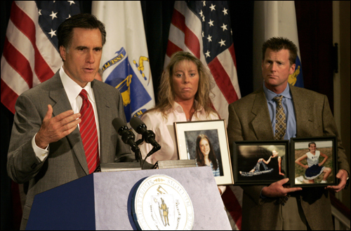 Romney often shied away from the kind of back-room deal-making for which Massachusetts politics has long been known. Instead, he pushed his agenda through an artful use of the media. One such instance came in 2005, when he enlisted family members of drunk-driving victims to make emotional appeals on behalf of a stricter law.
