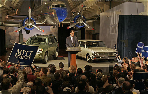 Mitt Romney made the announcement of his run for president of the United States in February at the Henry Ford Museum in Dearborn, Mich.