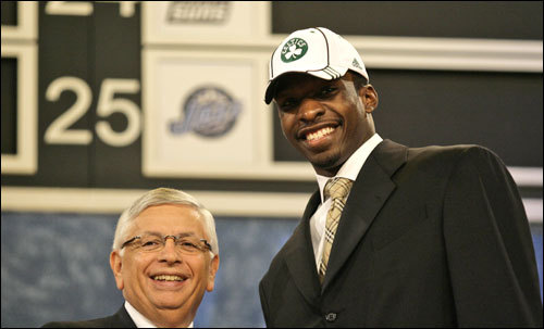 Georgetown's Jeff Green was drafted by Boston at No. 5, but he wouldn't be wearing the Celtics hat for very long.