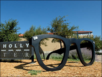 In Lubbock, next to a sculpture of Holly's glasses is a courtyard where concerts are held in his honor.