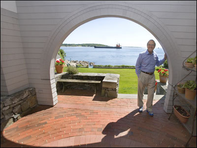 Despite the lure of the Maine coast, George Mitchell works on the investigation each day.