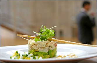 Peekytoe crab salad is featured at the restaurant inside the Morgan Library and Museum.