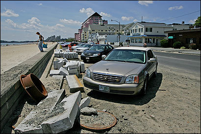 The signature angle parking spots of Revere Beach are on their way out as Revere Beach Boulevard undergoes a major construction project.