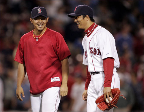 Matsuzaka hasn't been the only successful Japanese import for the Red Sox this season. Lefty reliever Hideki Okajima was selected to play in the All-Star Game for the American League, and leads the majors with an astonishing 0.83 ERA and a matching 0.83 WHIP.