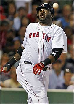 There was a scary moment for Boston's David Ortiz in the bottom of the eighth inning as Big Papi appeared to foul a pitch off his much-discussed right knee. Ortiz kneeled over for a while before resuming the at-bat, which ended in a check-swing strikeout. He walked very gingerly back to the Red Sox's dugout.