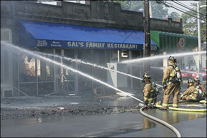 Firefighters battled a four-alarm fire at Sal's Family Restaurant in Waltham. Salvatore Pinzone has run the eatery for 41 years.