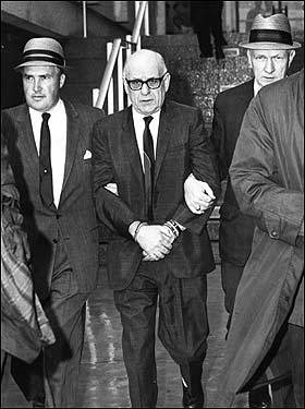 Henry Tameleo of Rhode Island was escorted by FBI agents H. Paul Rico (left) and Dennis Condon (right) as seen here in this 1967 photo.