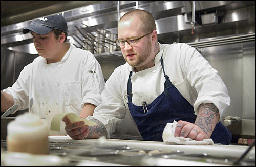 Chef de cuisine Jamie Bissonnette on an average night juggles about 20 entrees every half-hour.