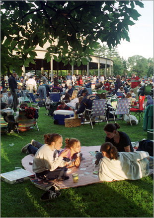 11. Take in a concert at Tanglewood Tanglewood in Lenox, Mass. in the Berkshires is the summer home of the Boston Symphony Orchestra. Pack a picnic, let the sun set, and listen to the symphony under a starry night sky. Take a tour of Tanglewood .