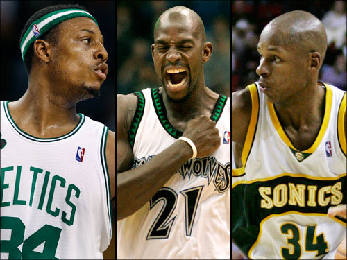 The 5-for-1 trade that brought Kevin Garnett to Boston may have left the Celtics' cupboard decidedly bare. After signing rookies Gabe Pruitt and Glen Davis, the Celtics would boast just 11 players, three of whom have never played in the NBA. Scroll through our gallery to see who's left.