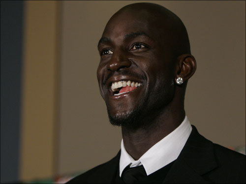Garnett addresses the media.