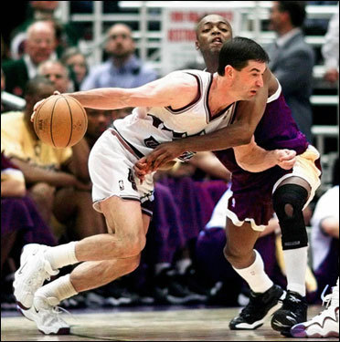 The Celtics need another point guard. Who's better than the best point guard of all time? John Stockton retired after the 2002-2003 season as the NBA's all-time leader in assists (15,806) and in steals (3,265). The 45-year-old former Dream Teamer would fill Boston's biggest need. He'd have to lose the short shorts, though.