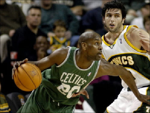 This guy is actually under consideration. Could Gary Payton get a second tour in Boston? Payton, now 39 years old, averaged 5.3 points and 3.0 assists per game for the Heat last season, while logging 22.1 minutes per game. He's got a title, but what the heck...
