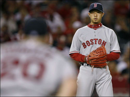 One of six pitchers utilized by the Sox, Hideki Okajima picked up the win by working 1 1/3 innings of scoreless ball (moving his record to 3-0 on the year, while dropping his ERA to 0.98). Okajima struck out two of the four batters he faced.