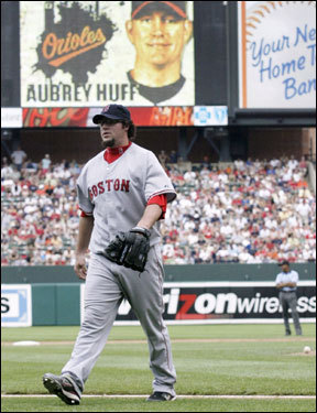 Even the most ardent of Eric Gagne's doubters could not have envisioned a start this bad. Gagne has a 16.20 ERA in four appearances for the Red Sox so far. In his last two appearances, he's been handed the lead and promptly given it up in games the Red Sox eventually lost. To this point, he's done the opposite of stabilize the Boston bullpen.