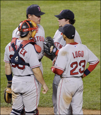 Their lead has shrunk, but the Red Sox aren't exactly playing bad baseball. The Sox have a 17-13 record since the All-Star break. If not for a couple of bad performances by one player (Eric Gagne), the Red Sox could have swept the Orioles. And would we still be having this conversation then?