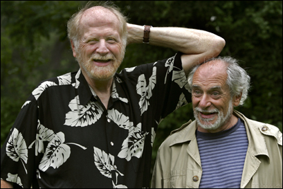 Tom Cathcart (left) and Dan Klein are old Harvard friends who wrote the surprise bestseller 'Plato and a Platypus Walk Into a Bar,' that combines humor and philosophy.
