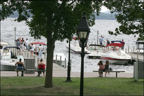 On most days Wolfeboro's waterfront is hopping with activity.
