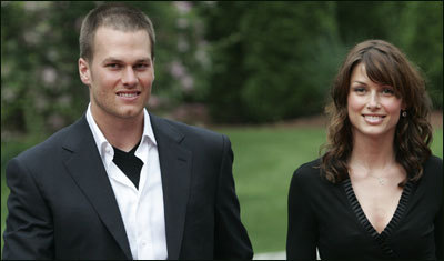 Patriots quarterback Tom Brady (left) and his former girlfriend, actress Bridget Moynahan, welcomed a baby boy Wednesday.