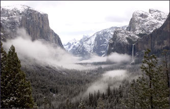 Yosemite Valley, photographer Ansel Adams once said, is 'always a sunrise, a glitter of green and golden wonder in a vast edifice of stone and space.''