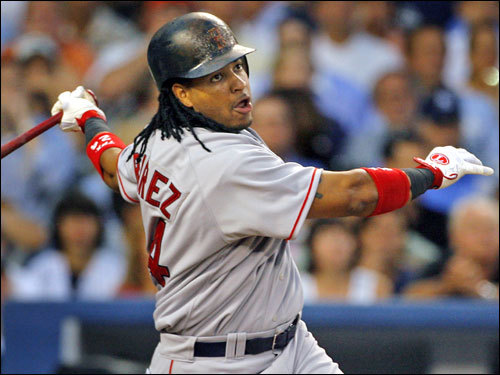 Manny Ramirez stroked a solo home run in the top of the second inning.
