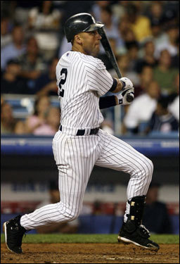 Derek Jeter connected for a solo home run in the fifth inning.