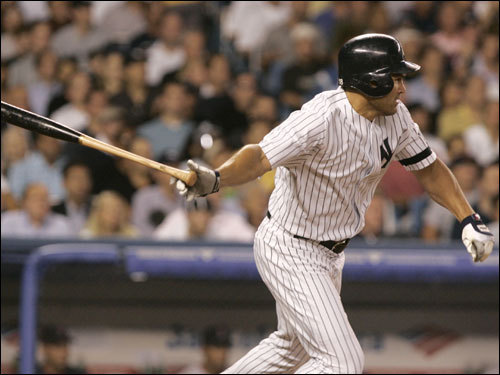 Johnny Damon stroked an RBI single in the second inning.