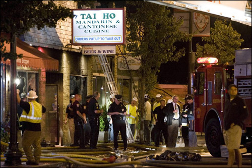 On Wednesday night, a fire tore through the Tai Ho Mandarin and Cantonese Restaurant in West Roxbury, killing two firefighters and injuring 11 people. Although the blaze marks a tragic event, it is by no means the only deadly inferno in recent Boston history. This gallery serves as a memorial to some of the city's firefighters who gave their lives for the protection of others.