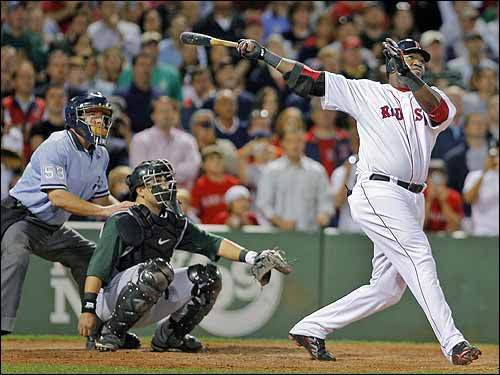 September 12, 2007 Sox 5, Devil Rays 4 Ortiz hit a two-run homer in the ninth inning that barely cleared the low right-field wall and helped lift the Boston Red Sox to a 5-4 win over the Tampa Bay Devil Rays.