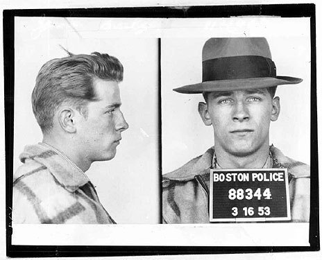 Mugshots of a young Bulger taken by Boston Police on March 16, 1953.