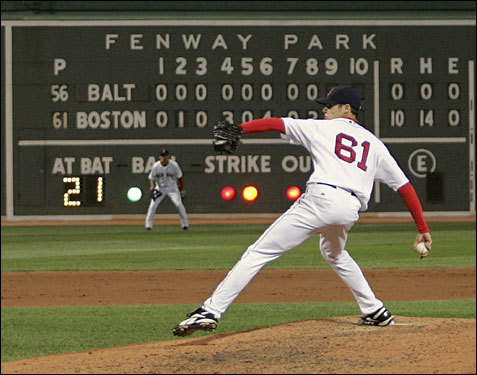 One fallback the Sox may be considering in case Matsuzaka falters early is having rookie Clay Buchholz on call. Buchholz has not pitched since Sept. 6, when his three innings of scoreless relief constituted a better performance, in the opinion of Hall of Famer Jim Palmer, than the no-hitter in his previous outing.