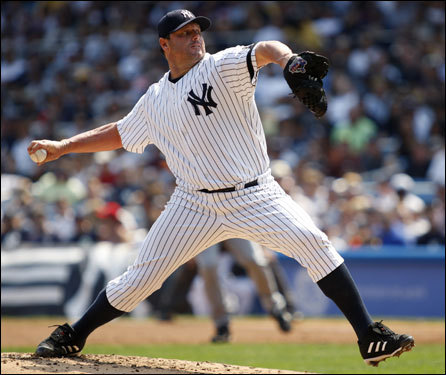 It looks like Roger Clemens will start at Fenway for the first time since the 2003 ALCS (think Pedro tossing Zim to the ground). The 45-year-old threw a bullpen session in Toronto last night and said there is 'no doubt' he will pitch Sunday night. If he does, that would set up his first start against Sox Curt Schilling since their epic duel in the desert Nov. 4, 2001, when Clemens and Schilling went head to head in Game 7 of the World Series.