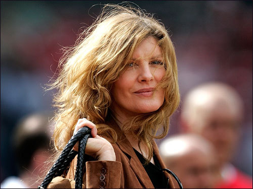 Actress Rene Russo made an appearance at Saturday's game between the Red Sox and the Yankees.