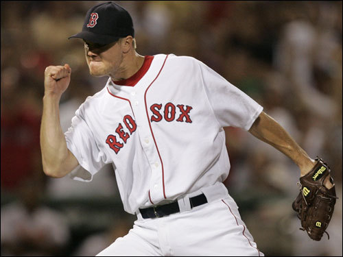 Jonathan Papelbon is having another spectacular season as the Sox closer, sporting an excellent 1.92 ERA with 36 saves and 83 strikeouts over 56 1/3 innings. As far as postseason experience goes, Papelbon pitched in two games during the 2005 playoffs, striking out two batters in four innings.