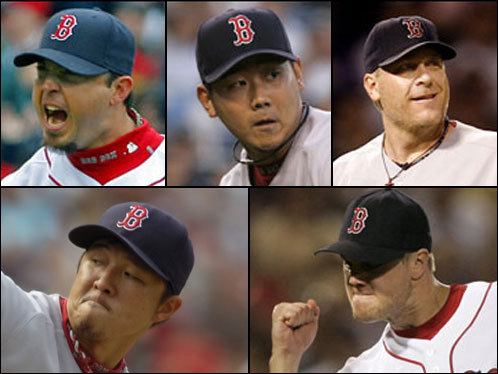 First we'll tackle the shoo-in pitchers to make the playoff roster: Starters Josh Beckett, Daisuke Matsuzaka, and Curt Schilling, and relievers Jonathan Papelbon and Hideki Okajima.