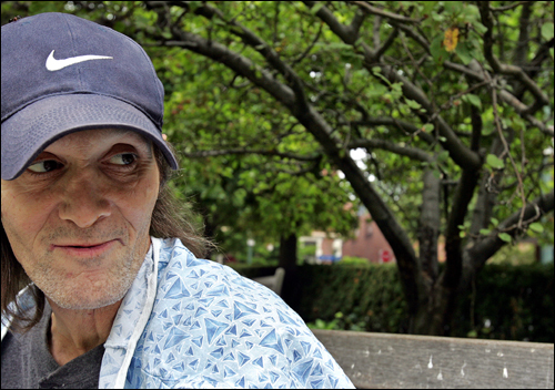 Here's Patrick Conway, a homeless guy who is in hospice care, yet he's managed to cheer an entire hospital and community. Check out this story , which includes his address.
