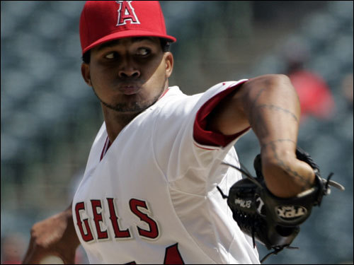 Since May 29: 58-41 (.586). In September: 10-8, 4.50 ERA. Hot starter: Ervin Santana, 2-1, 1.27 ERA, 24 K's in 21' IP in September. Ryan's comment: 'They're the chic team of the moment. ... Do John Lackey, Kelvim Escobar, and Jered Weaver really frighten anybody? Give me C.C. and Dr. Faustus. Mike Scioscia's the best manager in the derby, however. That's a fact.'