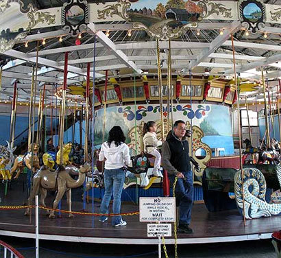 The circa-1926 carousel is one of five rides at Salem Willows.