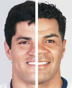 Tedy Bruschi (left) and Junior Seau: the new face of inside linebacking.