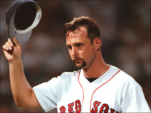 In his first and best season with the Red Sox, Tim Wakefield was virtually unhittable at times, going 16-8 with 119 strikeouts and a 2.95 ERA. Wakefield started the season 14-1 and at one point won 11 straight games for the Red Sox. Wakefield, however, faltered in his one playoff game, surrendering seven runs to the Indians in 5 1/3 innings.