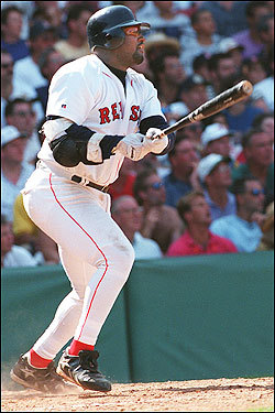 In his fifth season, first baseman Mo Vaughn was voted the American League's Most Valuable Player after hitting .300 with 39 home runs and 126 RBIs. Vaughn narrowly beat out controversial Cleveland outfielder Albert Belle in the MVP voting. Belle had 50 home runs, 52 doubles, 126 RBIs, scored 121 runs and hit .317. The Indians won 100 of 144 games but lost in the World Series.