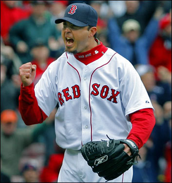 Josh Beckett bounced back from a rough first season in Boston (16-11, 5.01 ERA, 36 home runs allowed) and became the ace of the Red Sox staff. At 20-7 with 194 strikeouts, a 3.27 ERA, and only 17 home runs allowed, he's one of the favorites for the American League Cy Young Award.