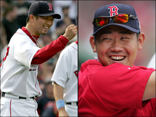 Japanese pitchers Hideki Okajima and Daisuke Matsuzaka gave the pitching staff a big lift during the first half. Okajima thrived as a setup man before the All-Star break, posting a 2-0 record with a 0.83 ERA, four saves, and 37 strikeouts. Since then, the All-Star has a 4.56 ERA, including 8.10 this month. Matsuzaka was 10-6 with a 3.84 ERA and 123 strikeouts before the break. Dice-K won his 15th game Friday and topped 200 strikeouts for his rookie season.