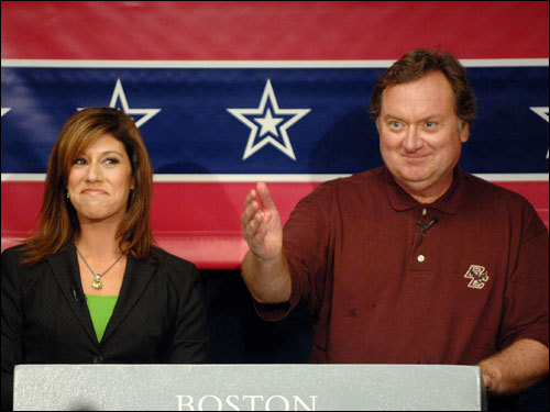 Tina Cervasio and Tim Russert kept the debate on track as the candidates talked about topics ranging from Bucky Dent and 1978, their most memorable day at Fenway, and whether the Red Sox should pursue Alex Rodriguez in the offseason.