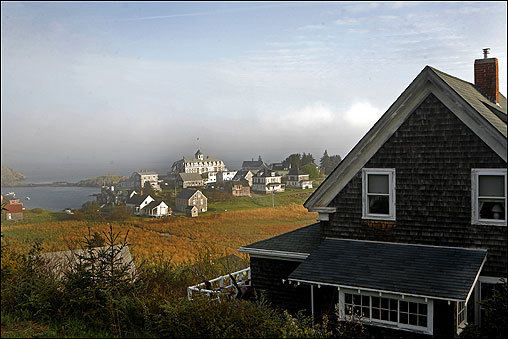 Sunday's Boston Globe Magazine offered 19 destinations in New England to visit this fall, both close to home or incredibly exotic. At left, 11 miles off the coast of Maine, Monhegan Island offers a thorough escape from the daily grind.