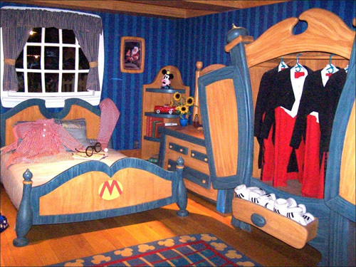 Get up close and personal with Mickey Mouse at the Magic Kingdom. You can even tour the big cheese's home and get a sneak peak of his bedroom. Looks like Mickey is very picky when it comes what he wears.