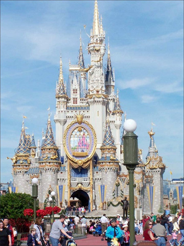 Cinderella's castle is a magical site to see.